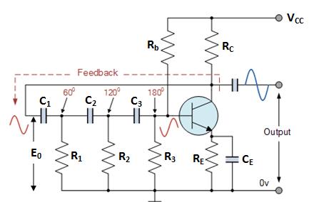 Image result for फेज शिफ्ट R-C Oscillator