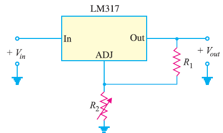 Circuit Diagram of Adjustable Voltage Regualtor