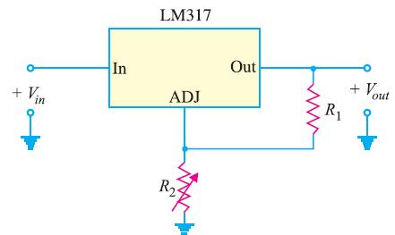 Circuit Diagram of Adjustable Voltage Regualtor