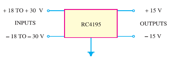 Circuit Diagram of Dual Tracking Voltage Regulator