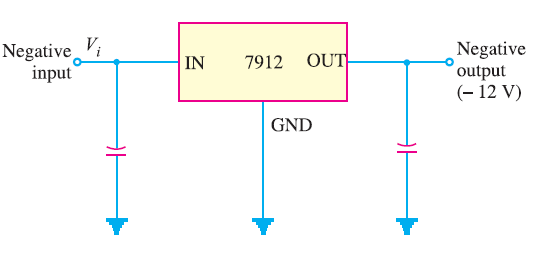 Circuit Diagram of Fixed Negative Voltage Regulator