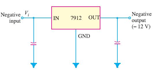 Circuit Diagram of Fixed Negative Voltage Regulator