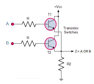 Transistor OR gate