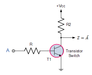 Transistor as an inverter