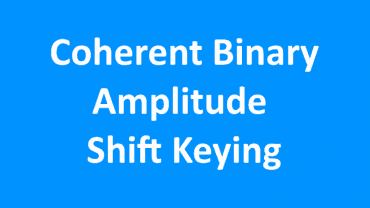 Coherent Binary Amplitude Shift Keying