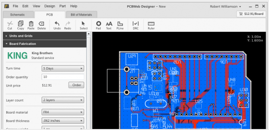 pcb design software pcbweb designer