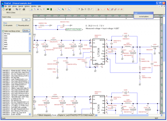 pcb design software tinycad