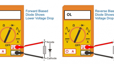 diode testing ohmmeter mode